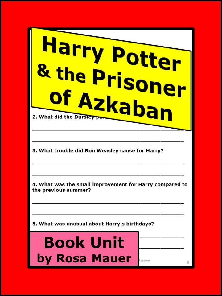 Harry Potter and the Prisoner of Azkaban Novel Study | Pinterest