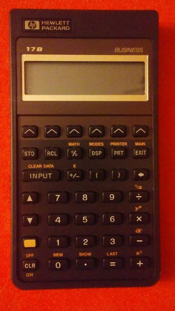 Hewlett-Packard HP 17BII Business Calculator With Carry Case and - 401k calculator