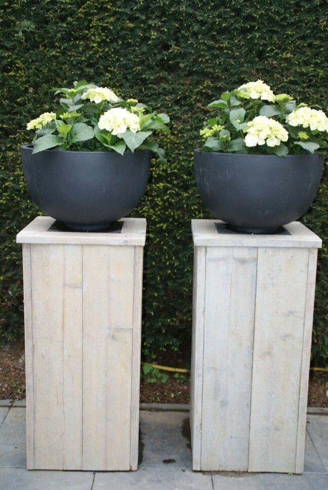Houten bloembakken maken plantenbakken tuin tuin for Foto op hout maken eigen huis en tuin