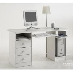 Photo of Pine desk Moby 150cm, naturlig lakkert Dolphin