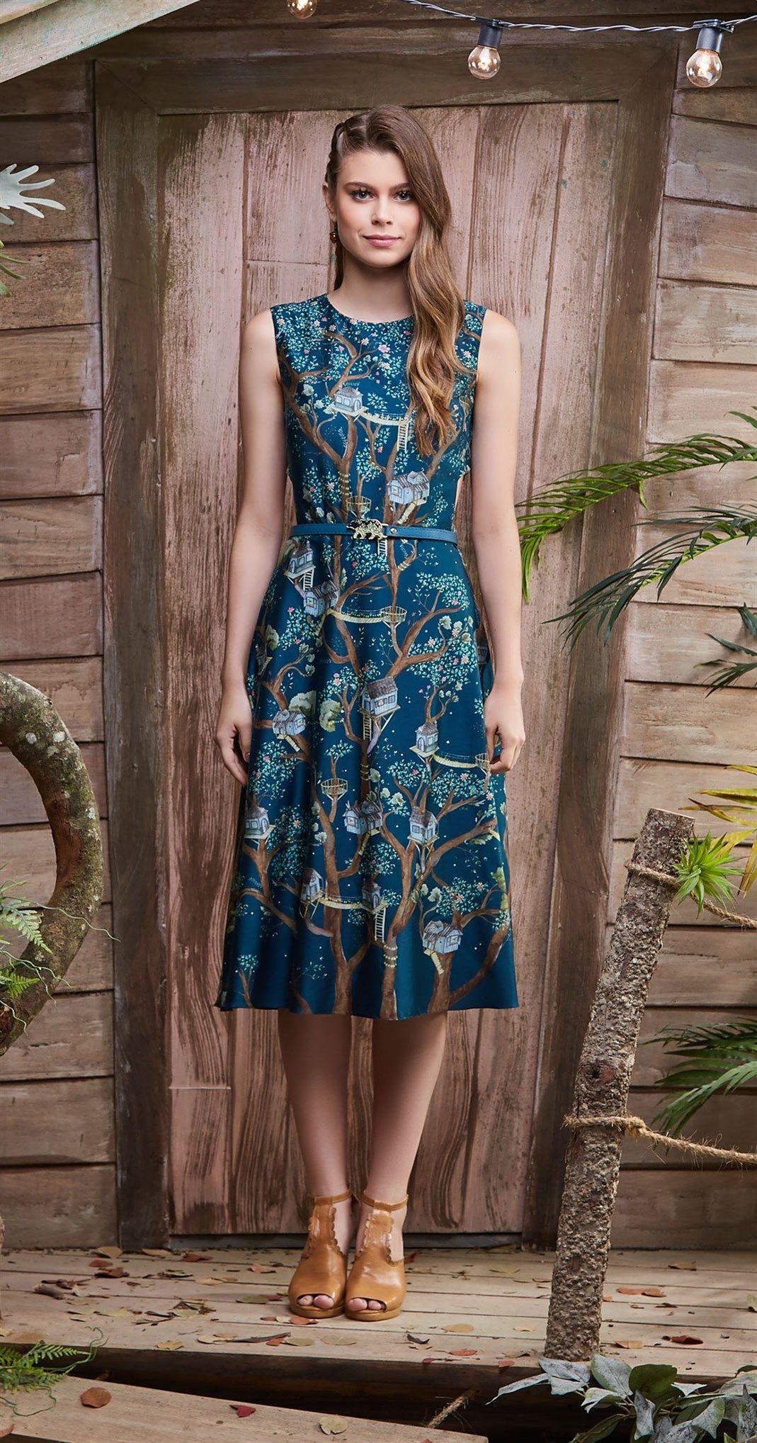 Só na Antix Store você encontra Vestido Midi Cidade na Árvore I com  exclusividade na internet f9642e7fd0