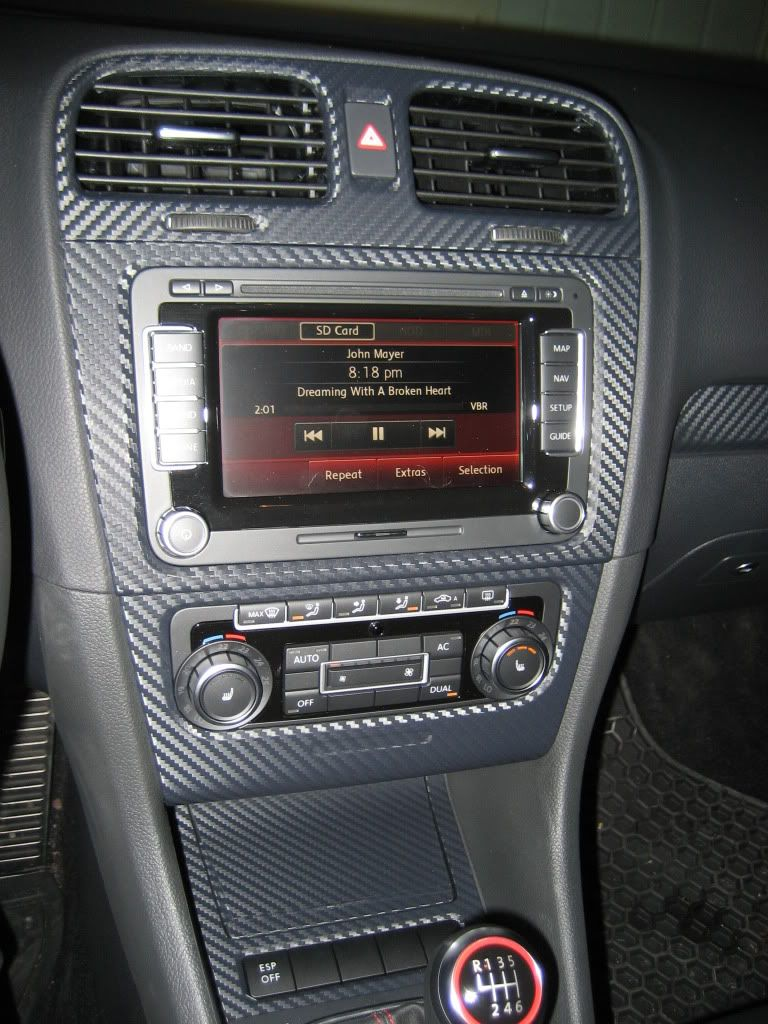 Carbon fiber wrapped interior trim pieces with pics diy worthy vw gti mkvi forum vw golf Blue carbon fiber wrap interior