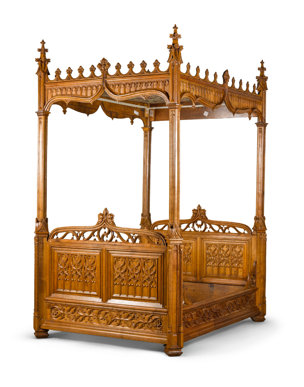 English Gothic bed Gothic bed, Gothic furniture, Gothic