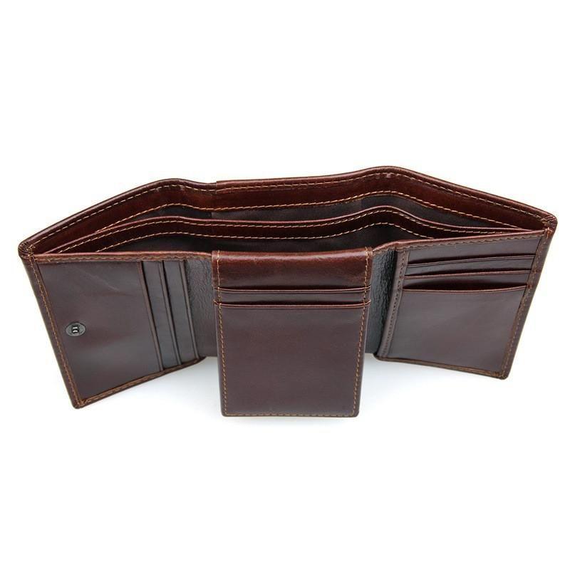Anti theft rfid safe genuine leather wallet rfid