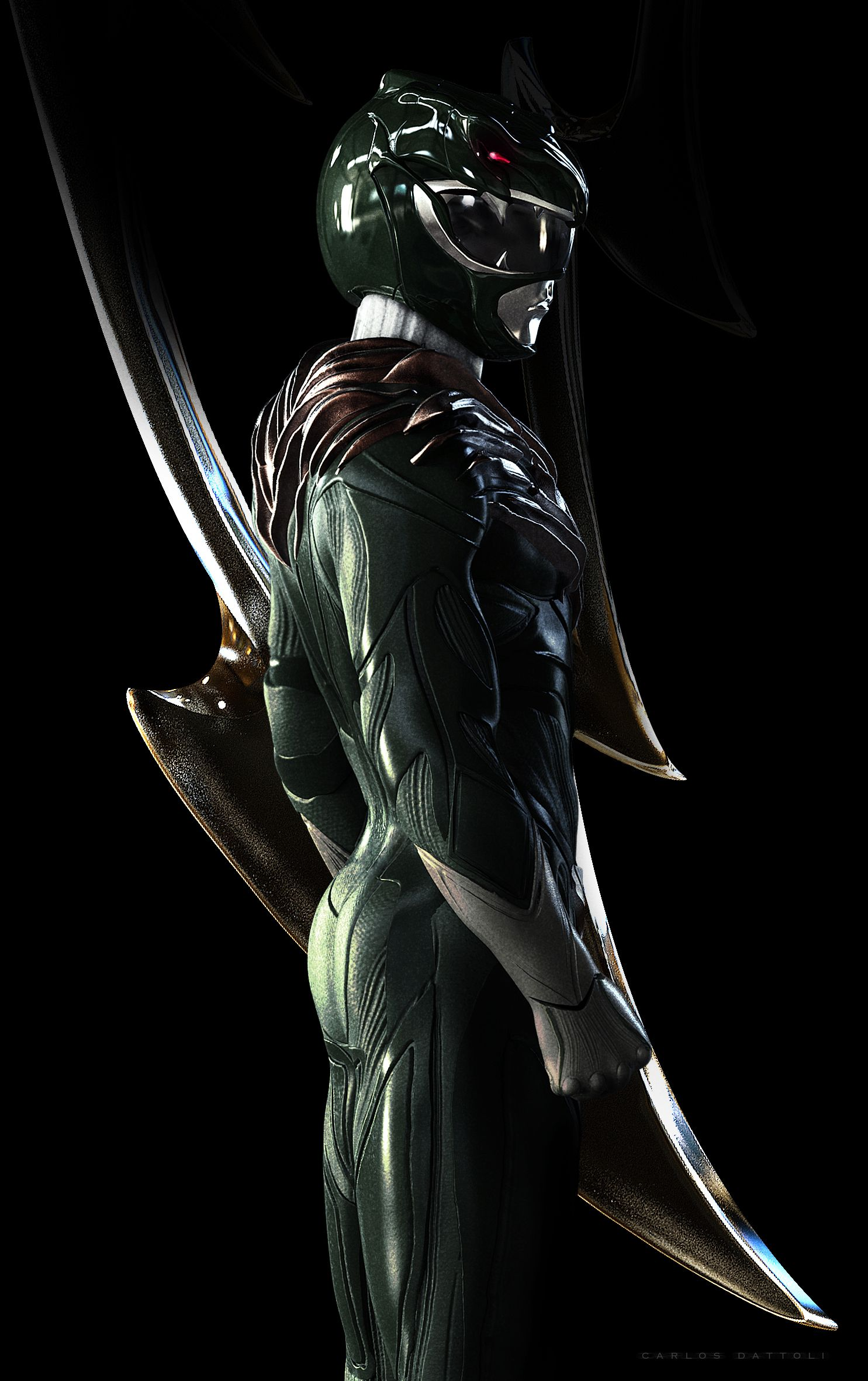 Green Ranger, Power Rangers Redesign Artwork by Carlos Dattoli ...