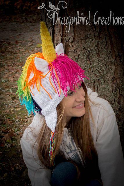 Knit Unicorn Horn Pattern : Dragonbird s rainbow farting glitter barfing one horned