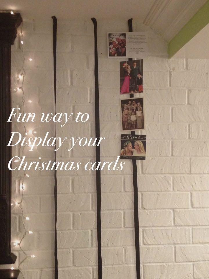 christmas card display ideas Holidays Pinterest