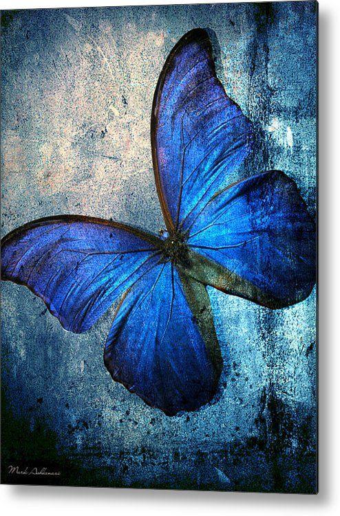 butterfly metal print by mark ashkenazi peinture pinterest papillon projets de tricots et. Black Bedroom Furniture Sets. Home Design Ideas