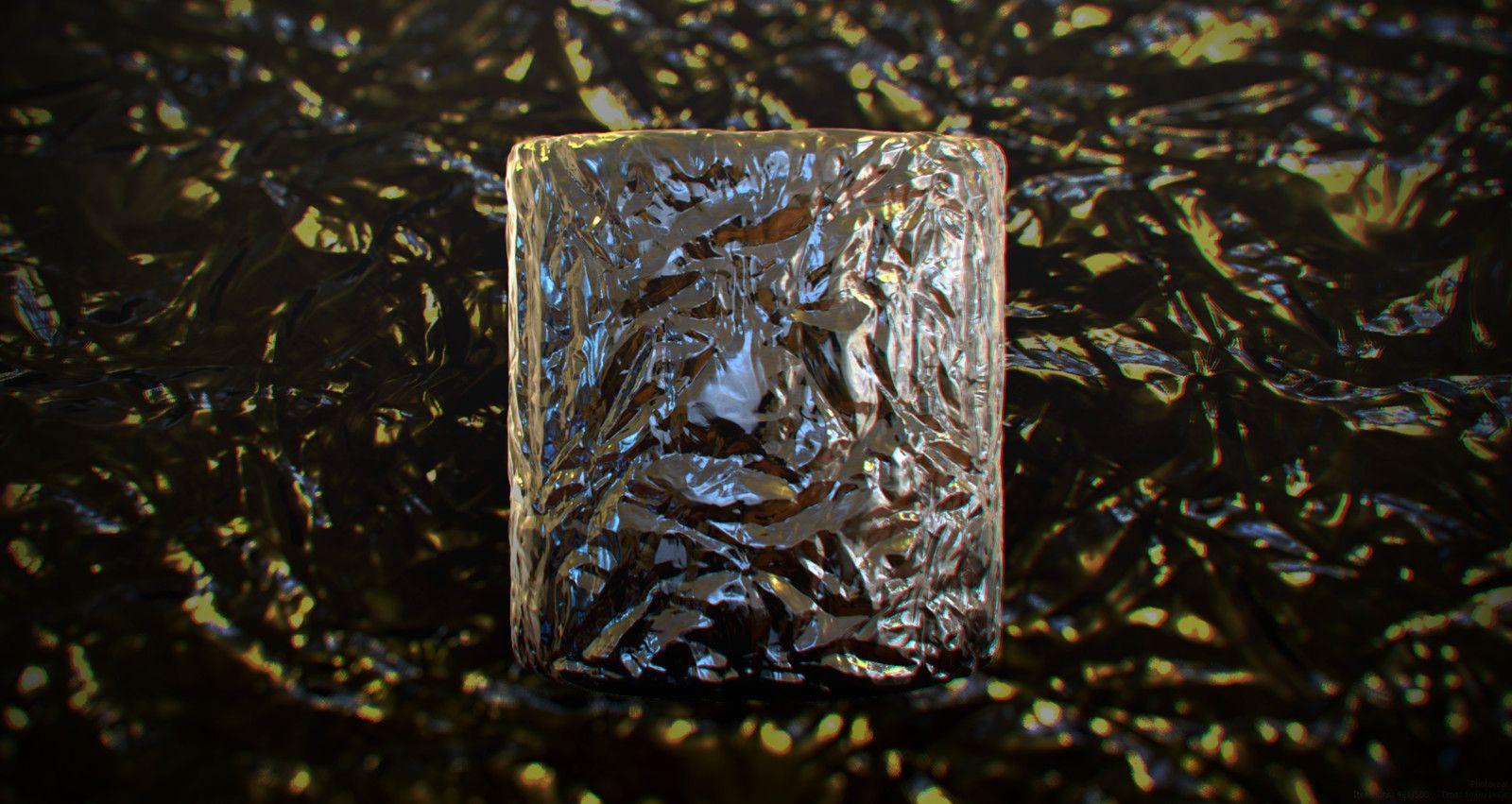 Crumbled Aluminum Foil, Pim Hendriks on ArtStation at https://www.artstation.com/artwork/arX2R