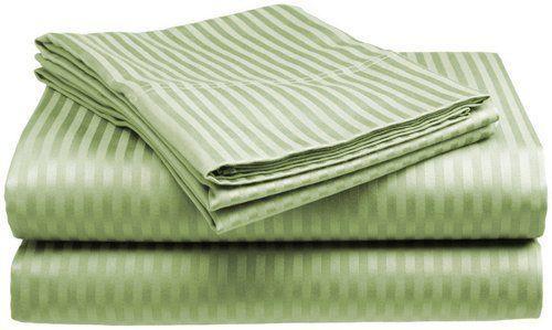 Queen Sheet Set 100 Percent Cotton 4 Piece 400 Thread Count Deep Pockets Green #LondonHome