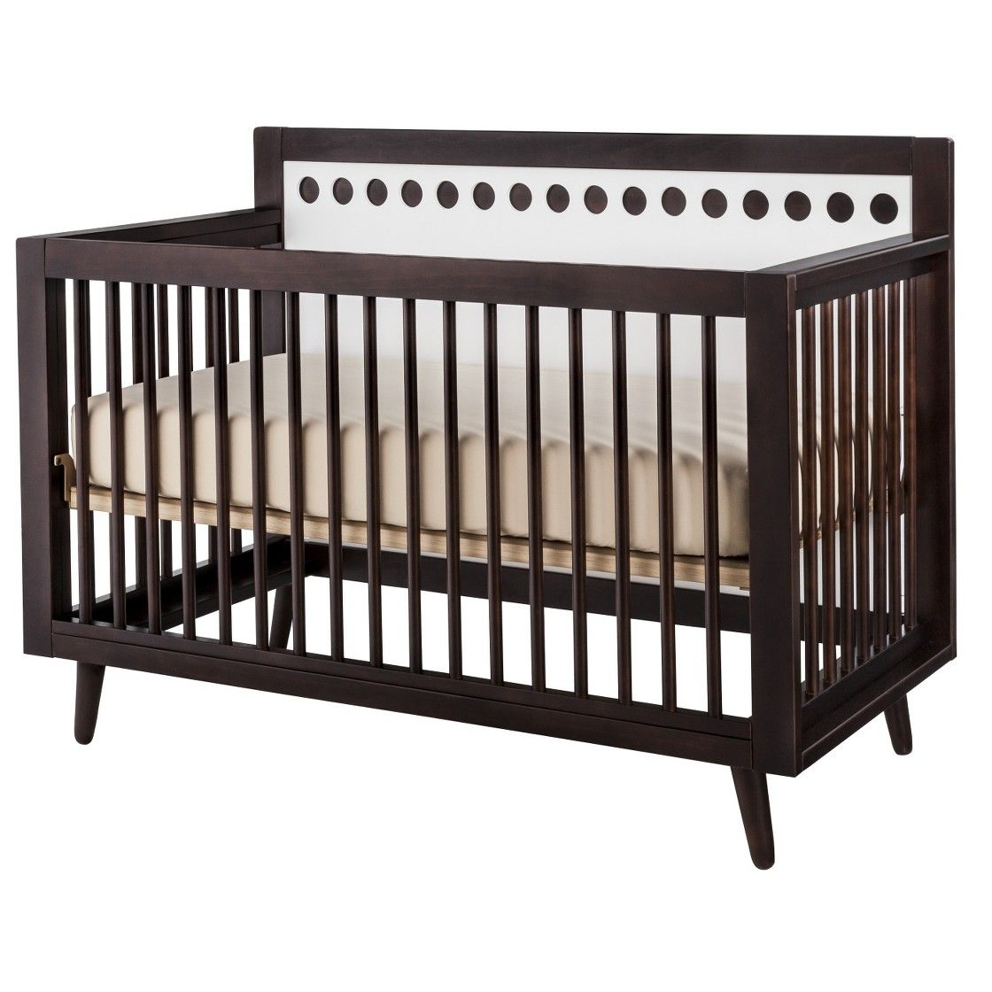 Stork Craft Bayshore 3-in-1 Convertible Crib - Espresso/White