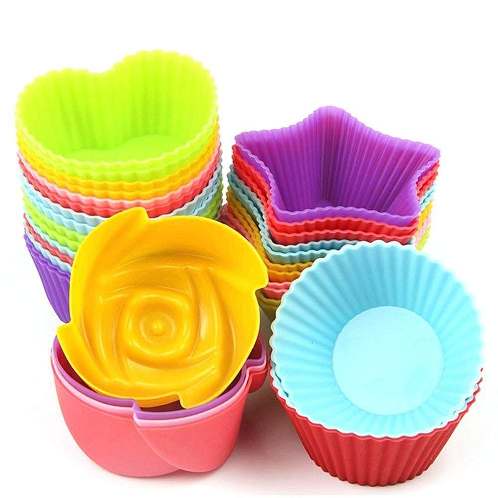 Amazon 24pcs Cupcake Baking Silicone Cake Molds Just 5 09 As Of