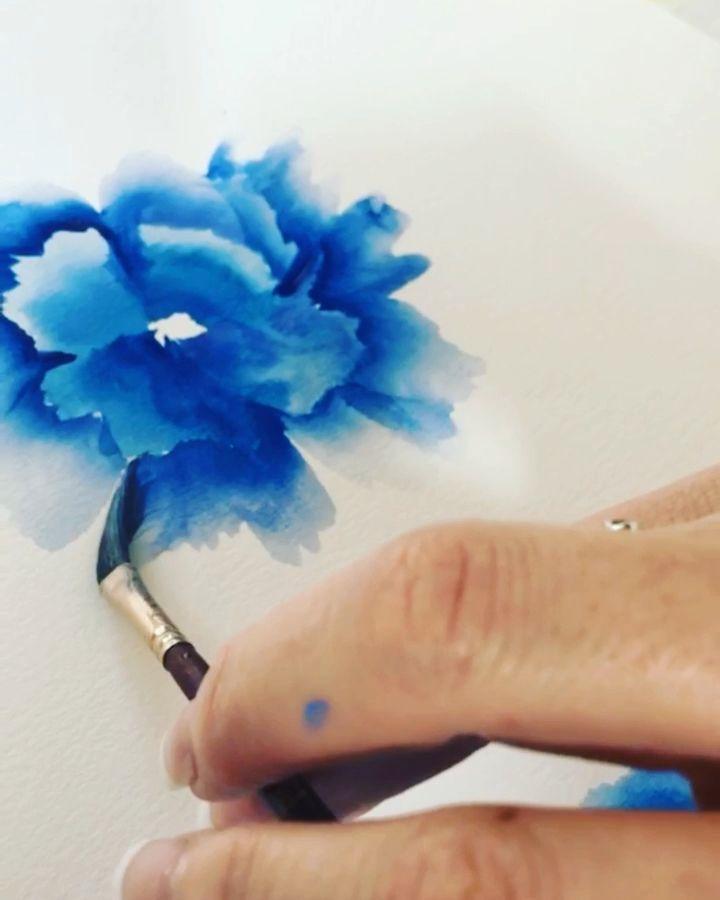 Watercolor Flower Painting  #easywatercolorpaintings