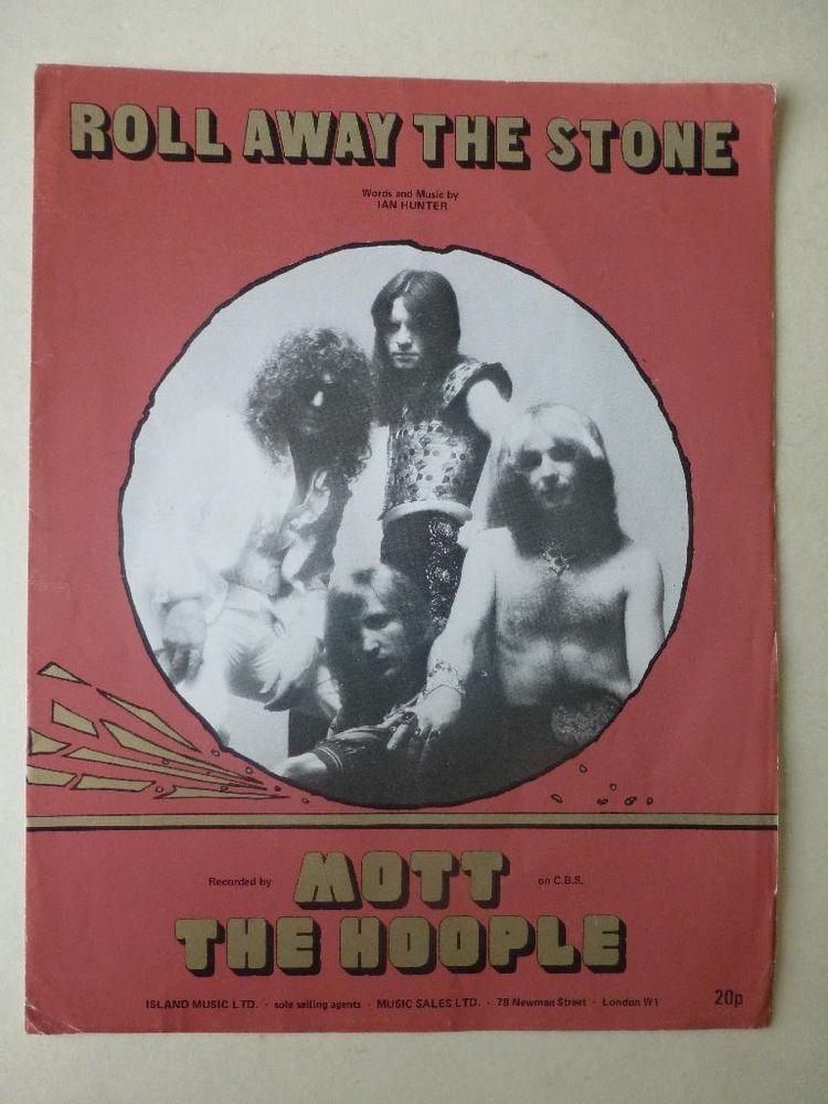 Mott The Hoople Roll Away The Stone Sheet Music 1973 Vintage Glam Rock Http R Ebay Com 7usuf0 Mott The Hoople Glam Rock