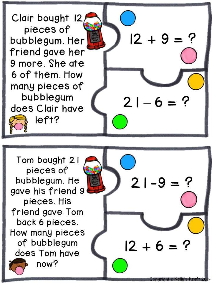 Two Step Word Problems With Images Word Problems Math Word