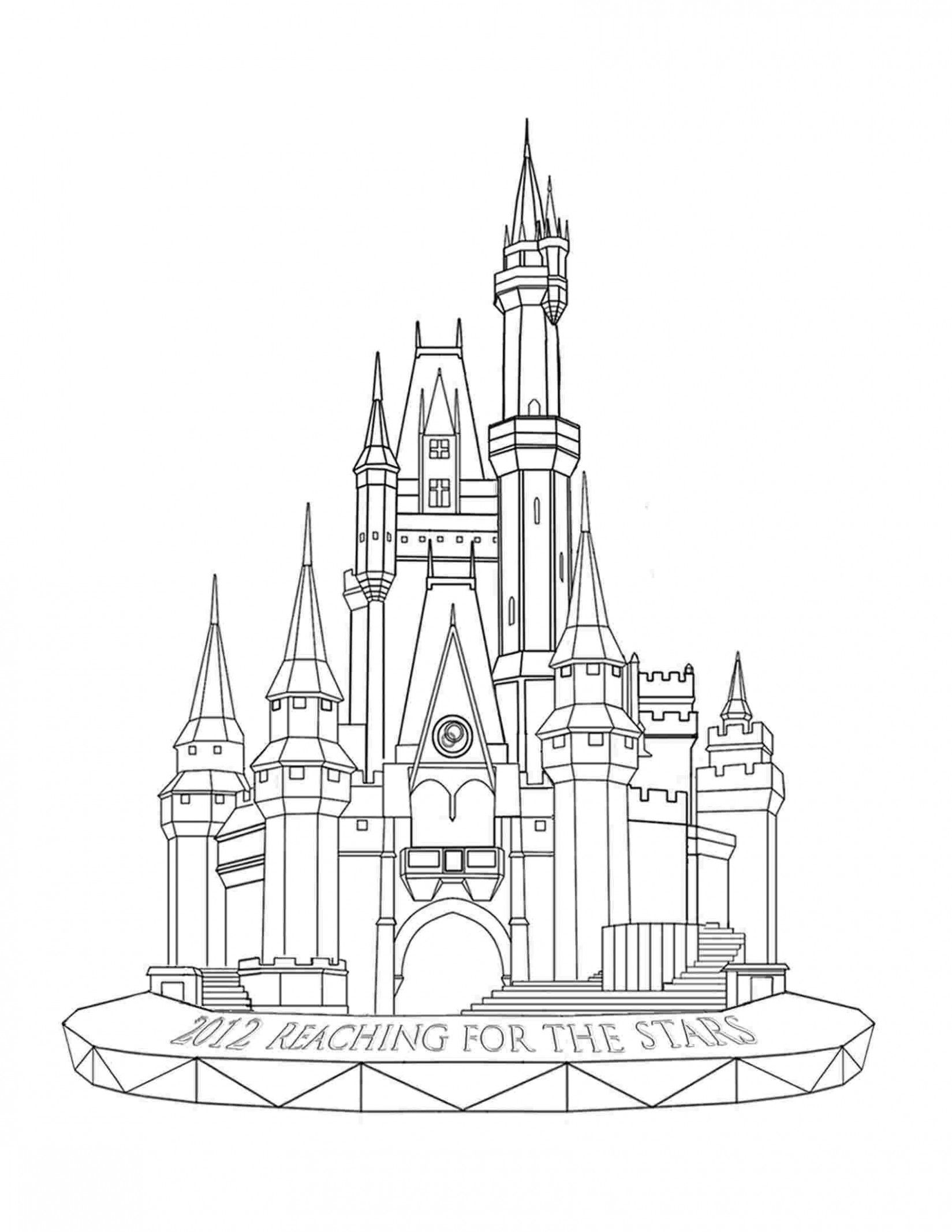 8 Disney World Castle Coloring Pages Castle Coloring Page Castle Painting Castle Sketch