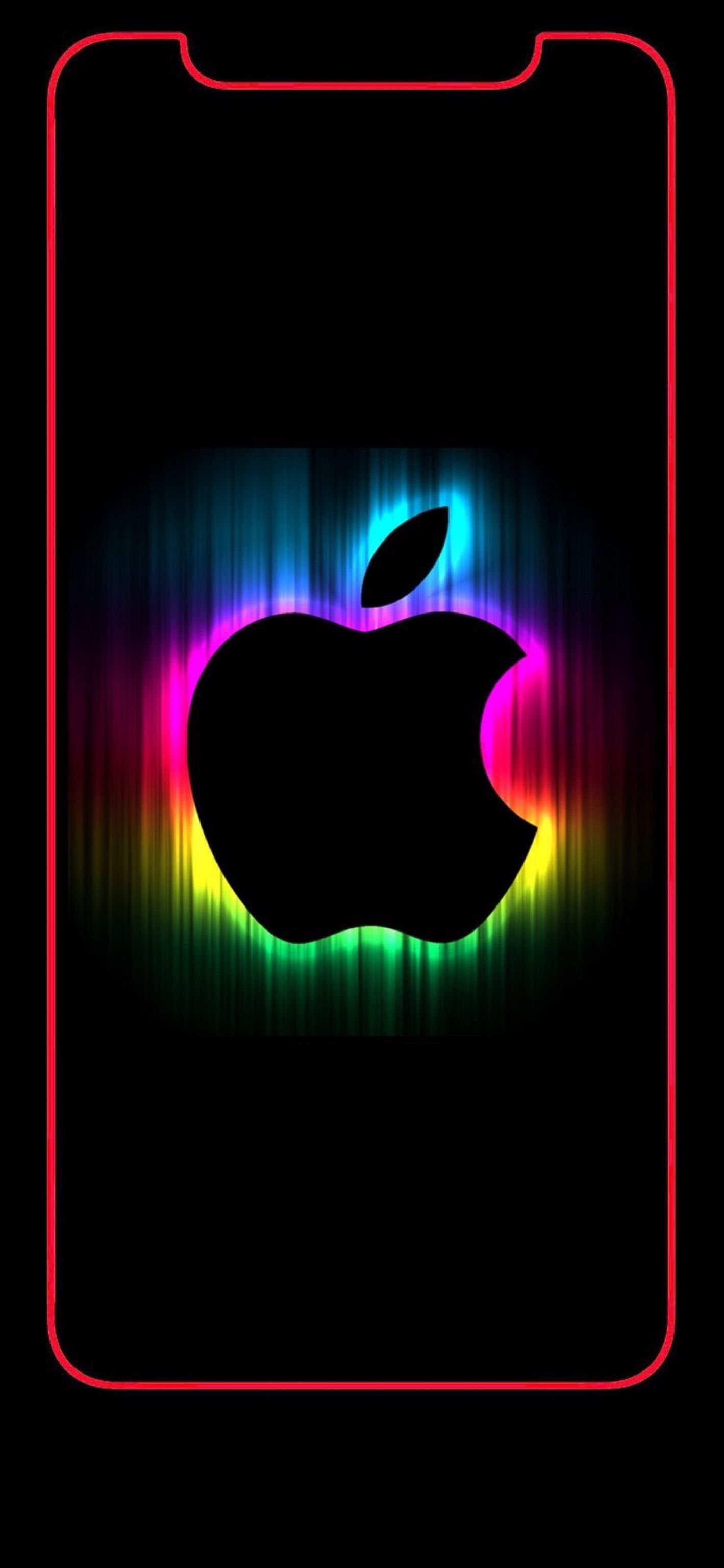 Wallpaper Iphone X Apple Logo Rainbow 2 Apple Logo Wallpaper Iphone Iphone Homescreen Wallpaper Apple Wallpaper