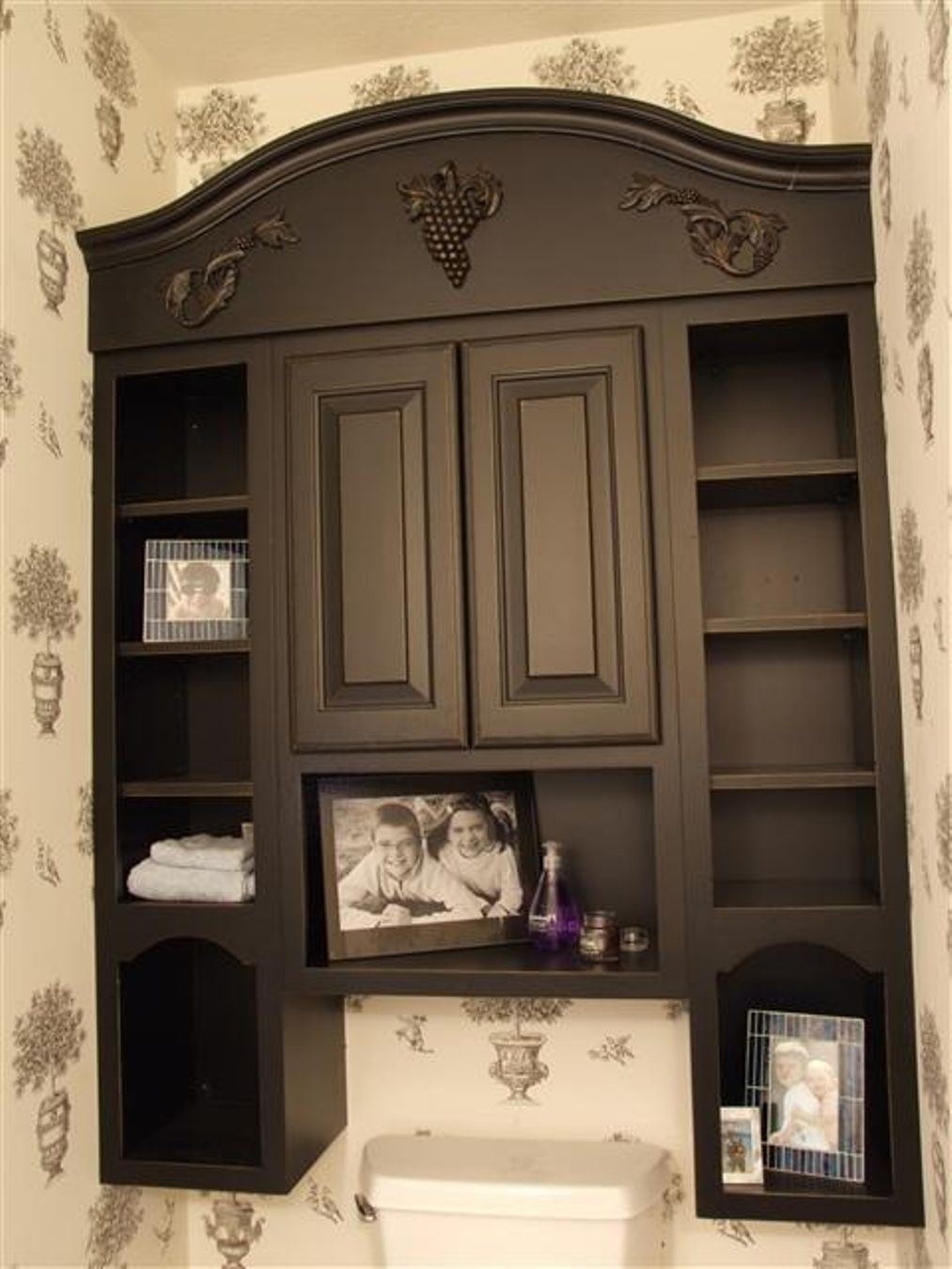 Dark Wood Bathroom Storage Cabinet Floor With Wall Cabinet
