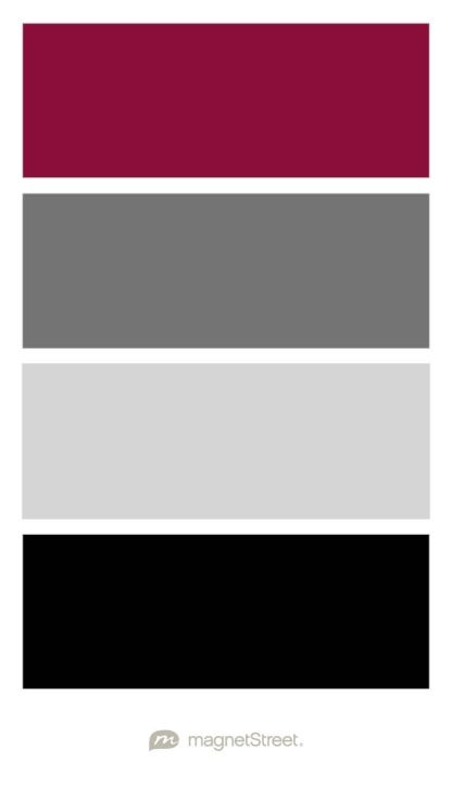Burgundy Charcoal Silver And Black Wedding Color