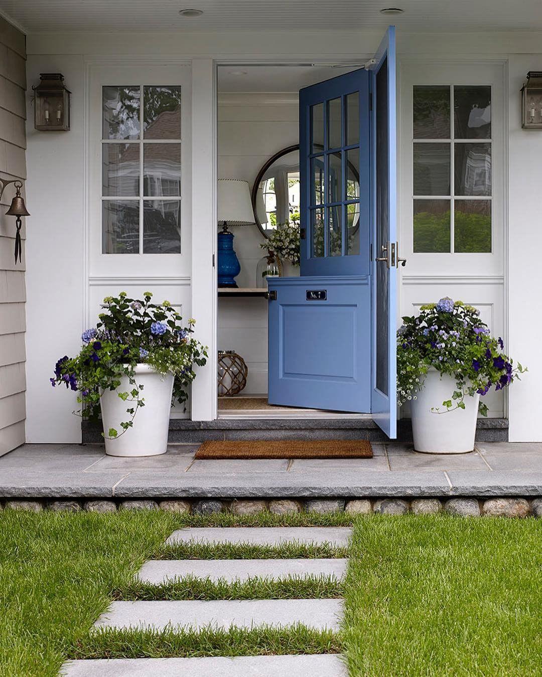 Pin By Kathleen Warner On Farm House Exterior In 2019 Front Door Design Dutch Doors