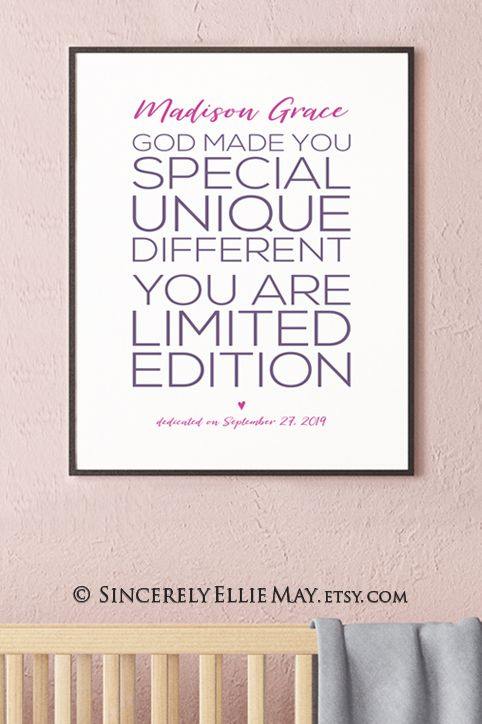 Girl Dedication Gift, Custom Name and Date Printable God
