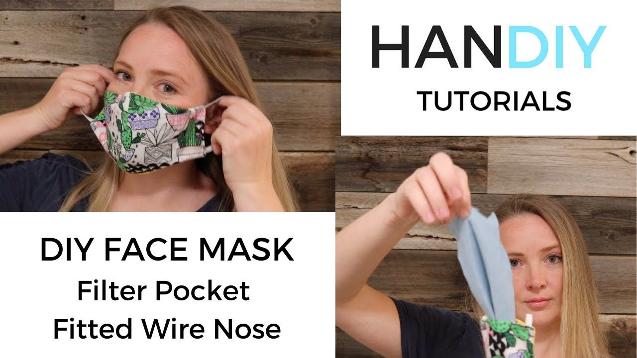 DIY Face Mask Filter Pocket & Fitted Wire Nose YouTube