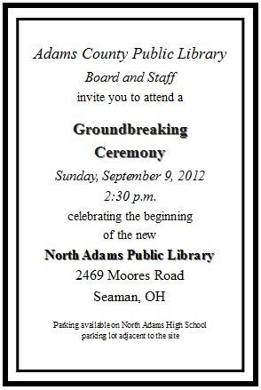 You\u0027re Invited to the Groundbreaking Ceremony for the North Adams - groundbreaking ceremony invitation templates