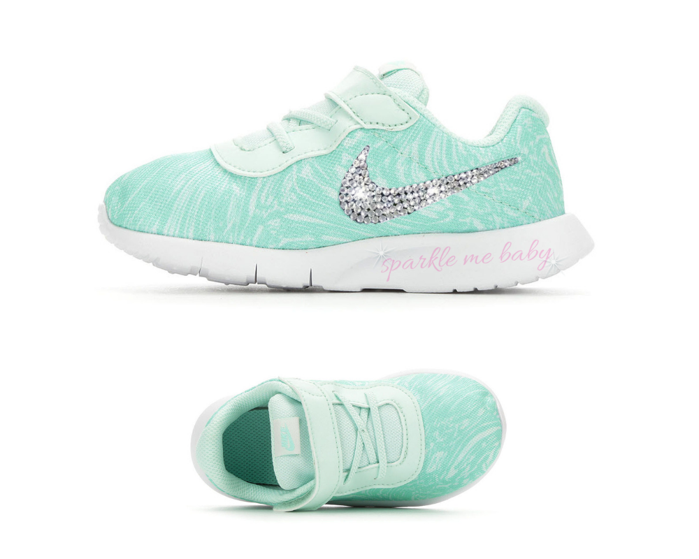 159bfeadae4e Nike Tanjun Print Infant Sneaker ~  customized by  sparklemebaby2u  Nike   nikegirl  blingnike  blingbling  bling  blinger  blingqueen  blingbaby ...