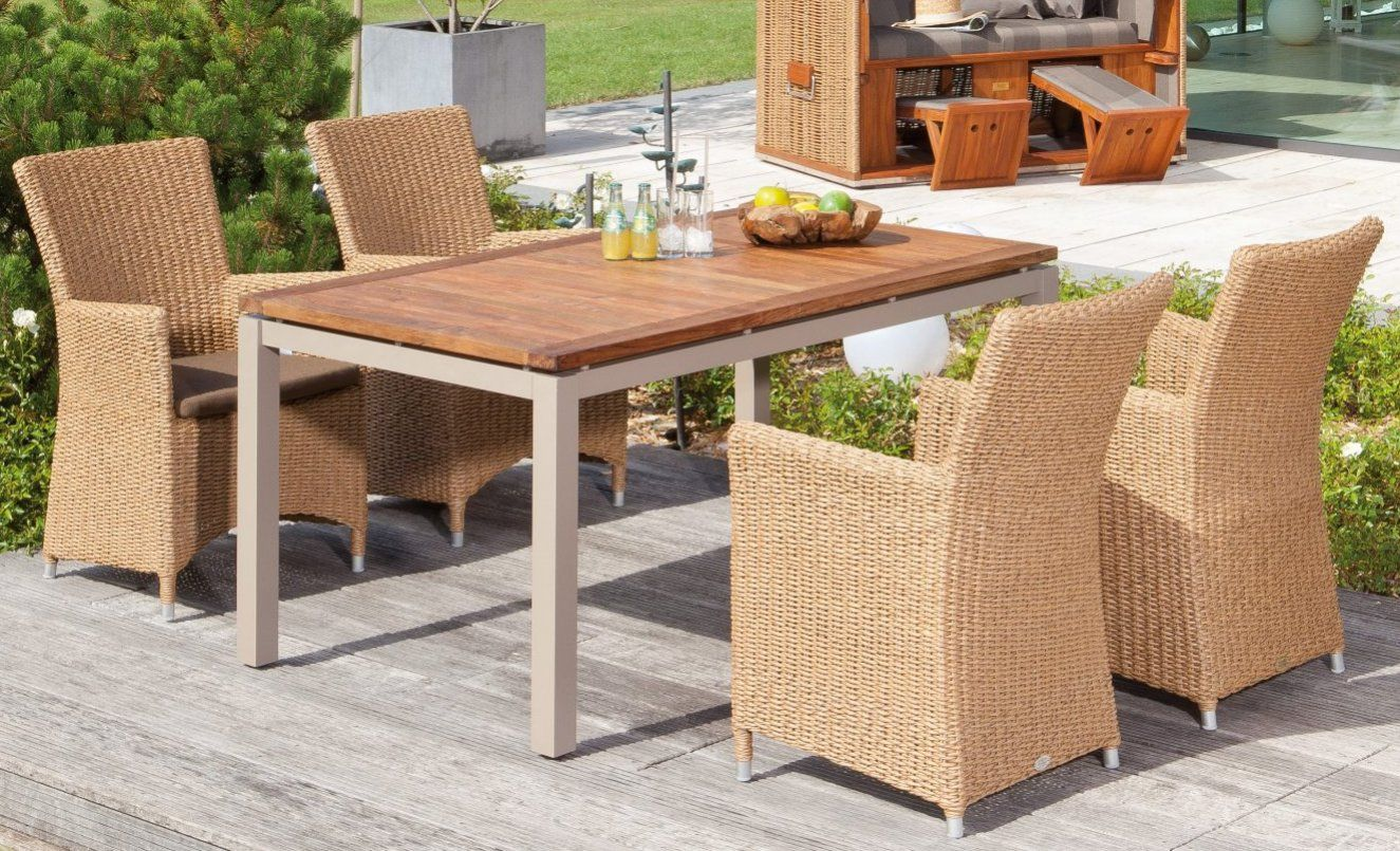Robuster Gartentisch Teak Tischplatten Breite X Tiefe 160 X 90 Cm Teak Gartentisch Gartenmobel