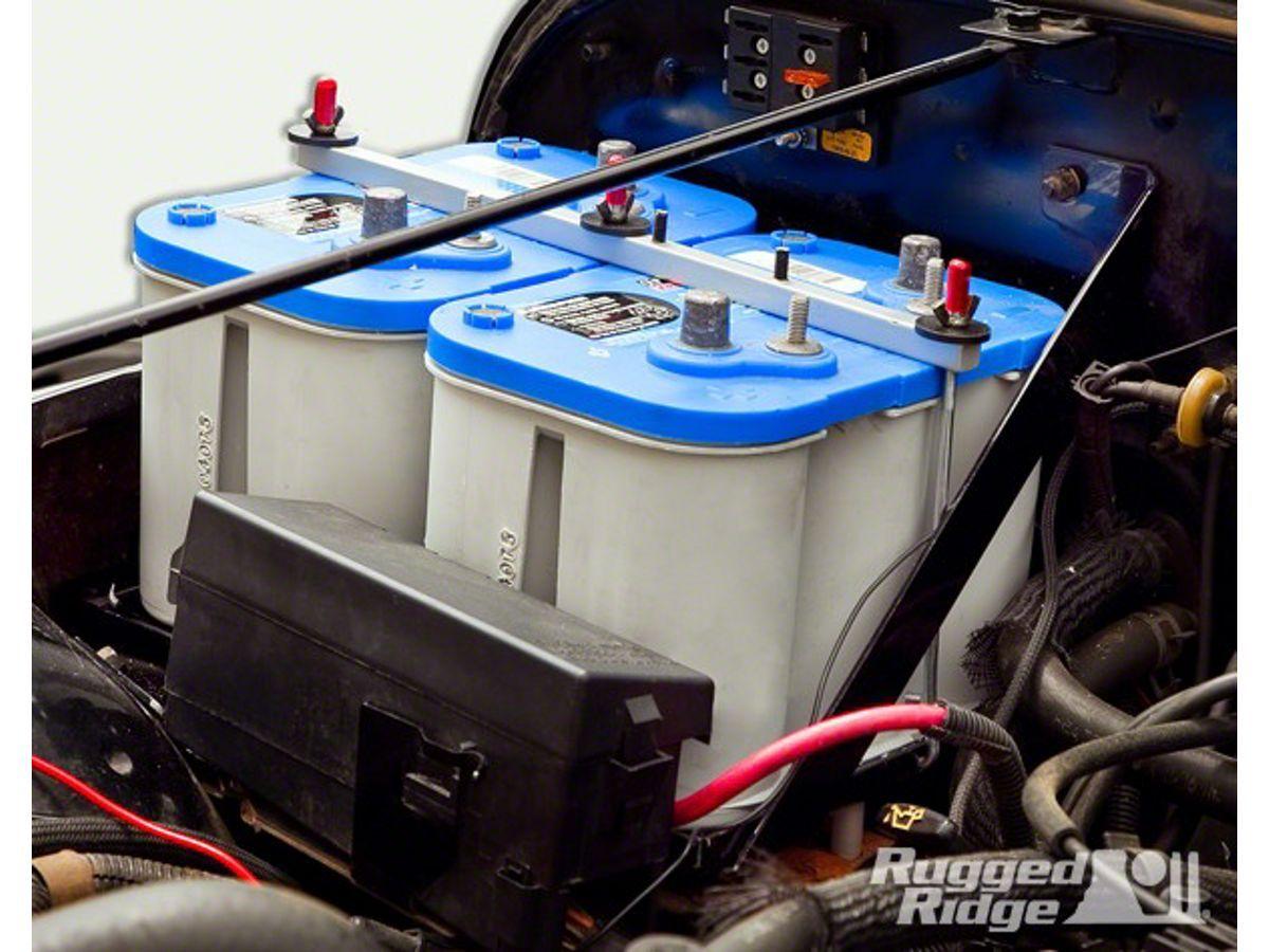 Rugged Ridge Dual Battery Tray Kit 91 95 Wrangler Yj Jeep Jk Wiring