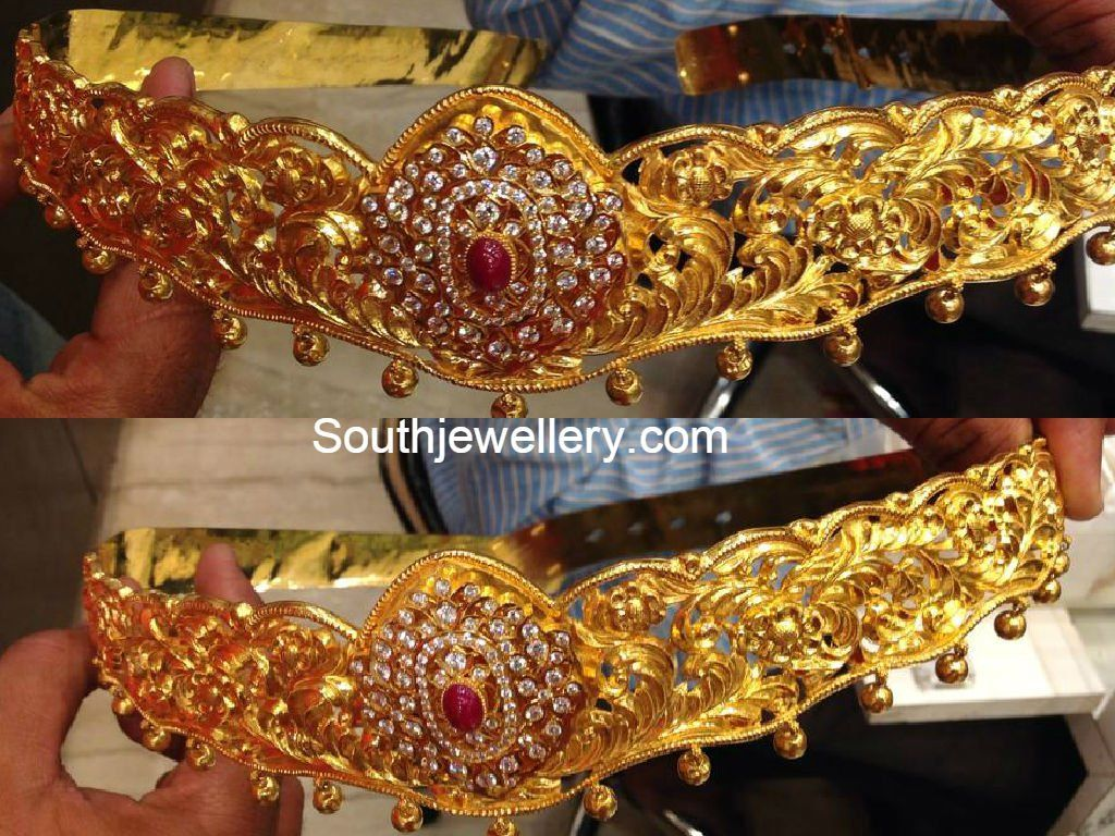 Gold vaddanam oddiyanam kammarpatta waisbelt designs south indian - 180 Grams Vaddanam