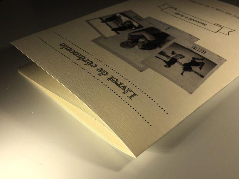 Livret de Messe – Reliure, Rives Tradition – Imprimerie ICB