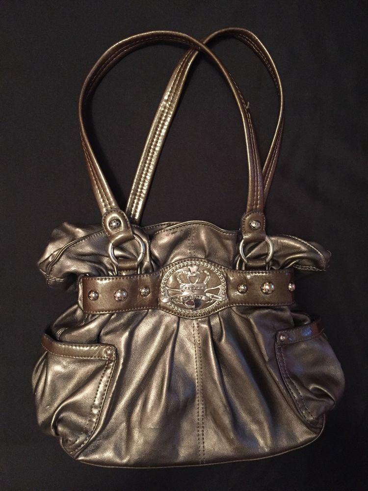 Kathy Van Zeeland Handbag Purse Shoulder Hobo Gold Bronze Metallic Pocketbook