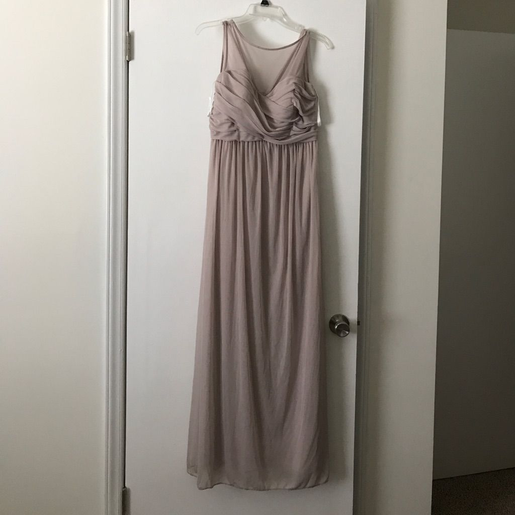 Davids bridal biscotti color long dress products