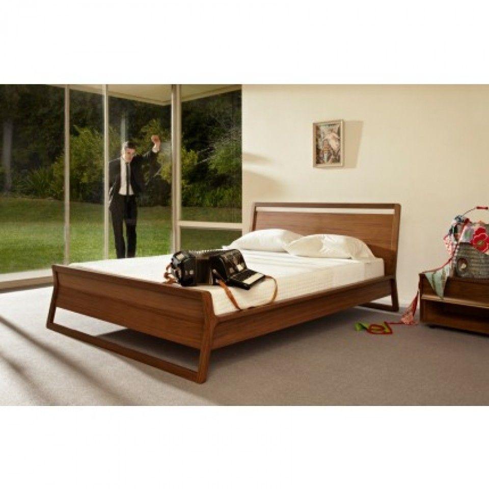 Modern Walnut Bedroom Furniture Woodrow Panel Bed In Walnut By Bludot Movement Pinterest