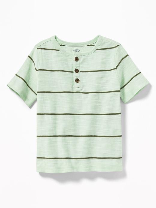 Striped Slub Knit Henley for Toddler Boys | Toddler boy
