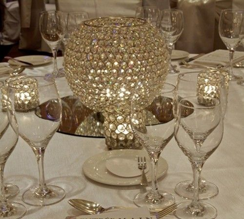 Crystal Globe Candle Holder Candelabra Votive Centrepiece For Hire Ebay
