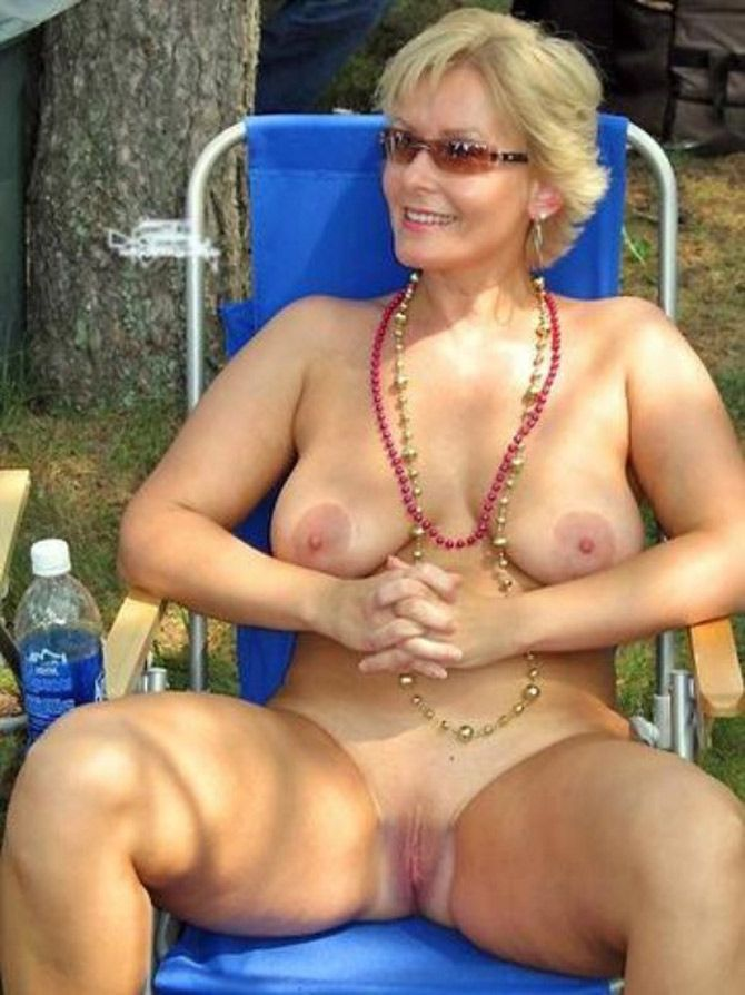 Naked mature women yoga