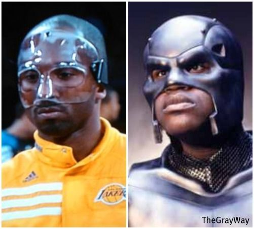 Shaq Is Not Impressed With Kobe S Mask Kobe Kobe Bryant Photo Mask