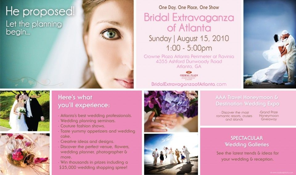 Bridal Extravaganza Show Flyer 960x568 Bridal Extravaganza - wedding flyer