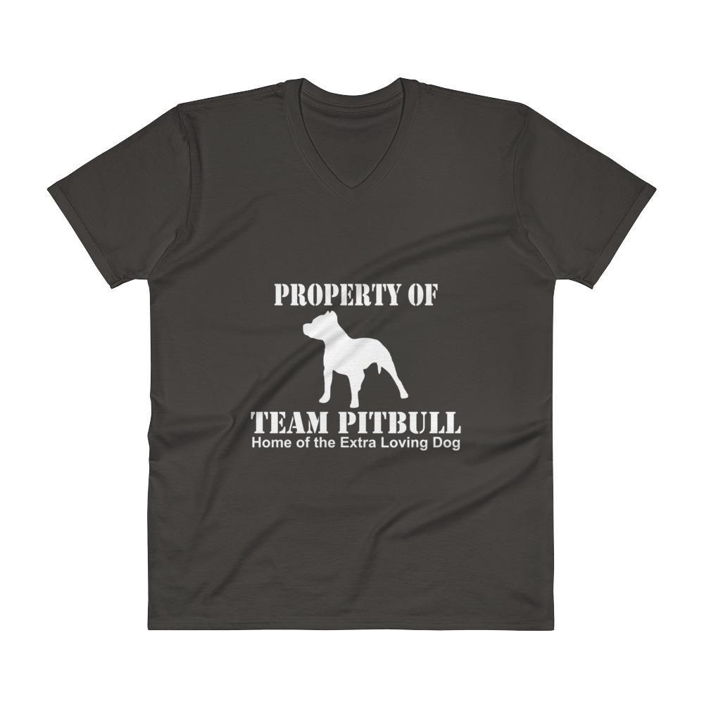 Property of Team Pitbull V-Neck T-Shirt
