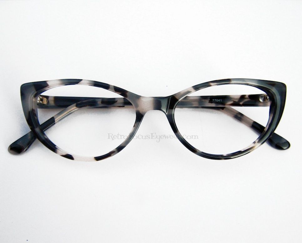 f34bb63e0e Shades of grey leopard tortoise pinup cat eye eyeglasses.