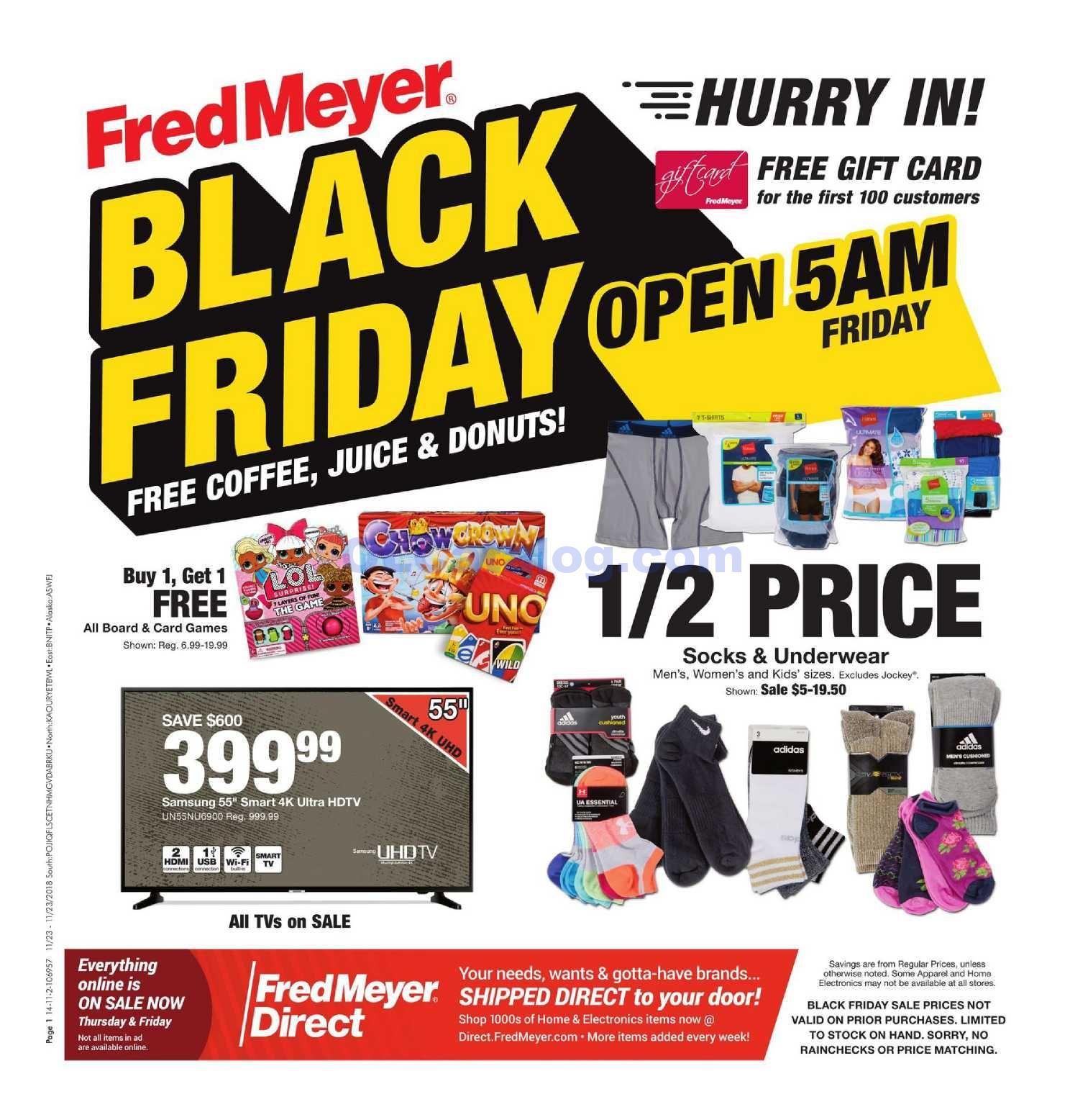 Fred Meyer Black Friday Ad Flyer 2018