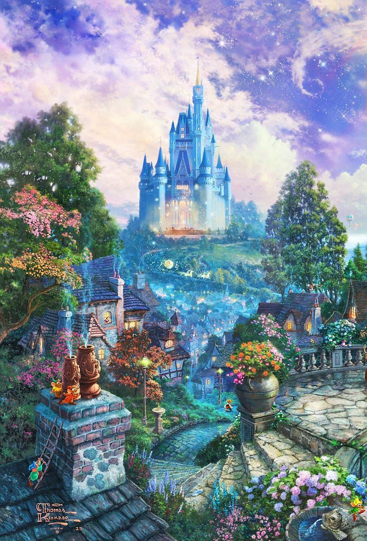 Thomas Kinkade quotDisneyquot  smile Thomas kinkade disney