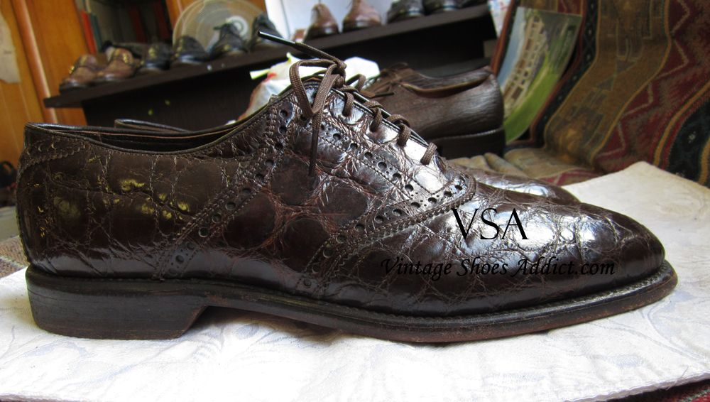 Crocodile Shoes Alligator Mens Shoes From A Vintage Perspective Crocodile Shoes Dress Shoes Men Crocodile
