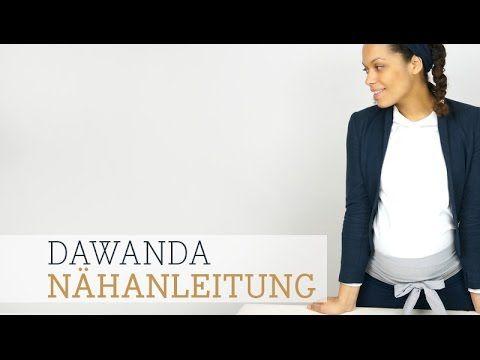 DaWanda Nähanleitung: Bauchband für Schwangere von Elfenkind Berlin