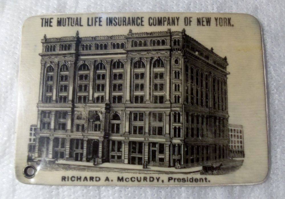 1890s Mutual Life Insurance Company Of New York Advertising