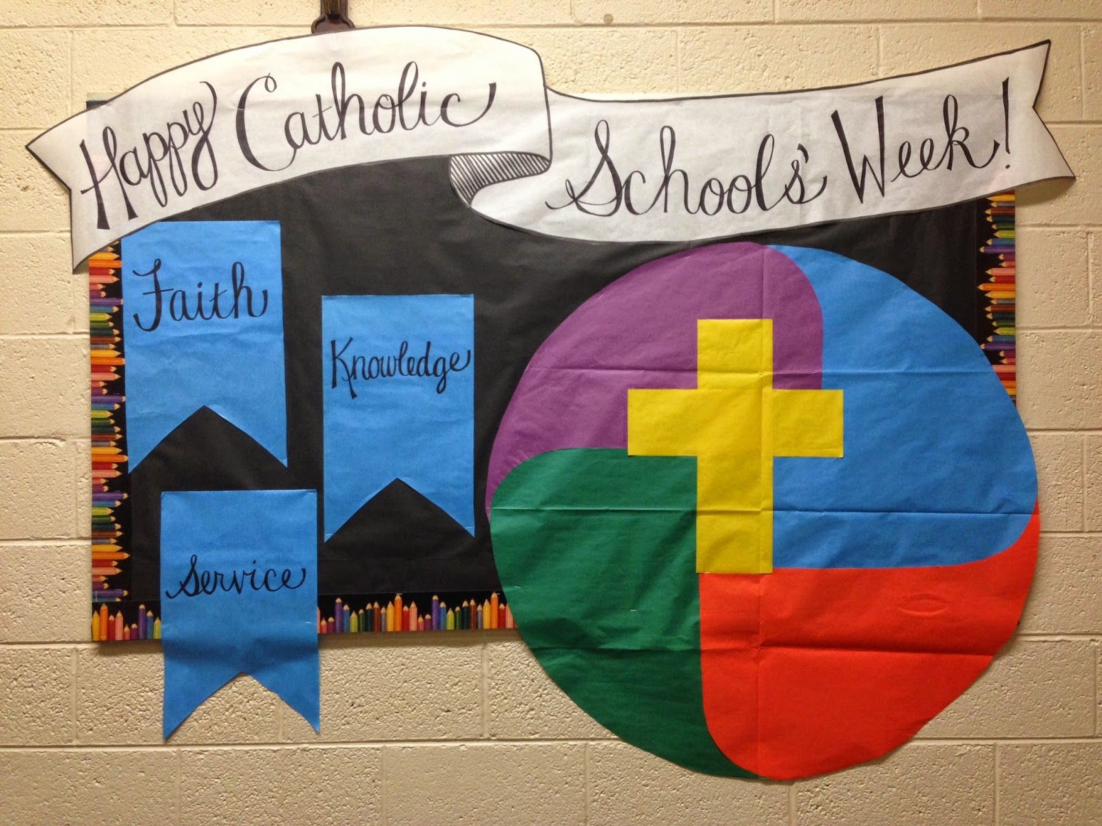 Catholic Schools Week Bulletin Board Idea