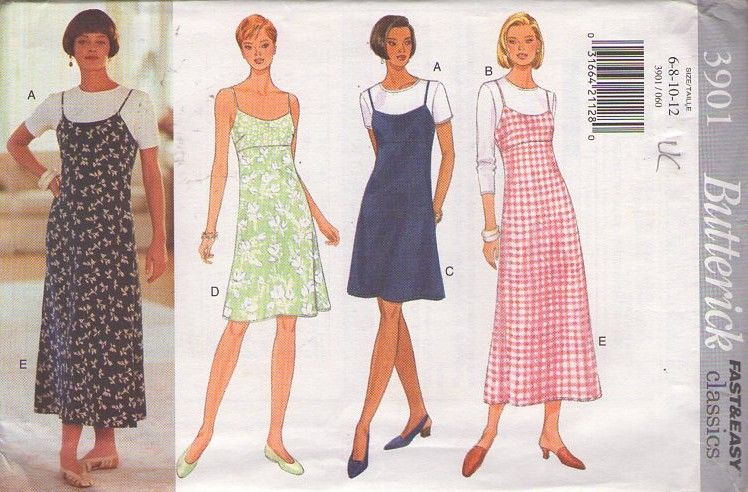 Momspatterns Vintage Sewing Patterns Butterick 3901 Retro 90 S Sewing Pattern Sweet S Summer Dress Sewing Patterns Summer Slip Dress Butterick Sewing Pattern