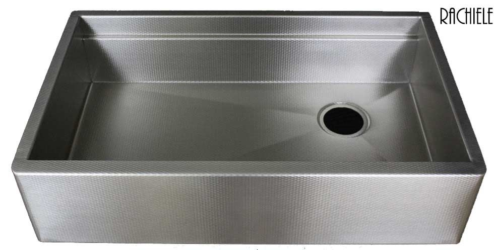 Stainless Steel Sinks That Hide Scratches And Water Spots. Love The Finish  And The Side Drain!